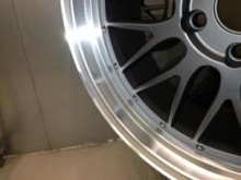 Close up of Alloy Wheel Refurbished